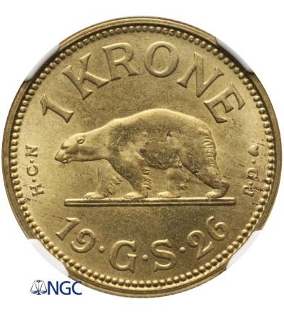 Grenlandia 1 korona 1926 - NGC MS 65