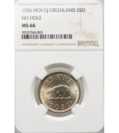 Grenlandia 25 Ore 1926 - NGC MS 66