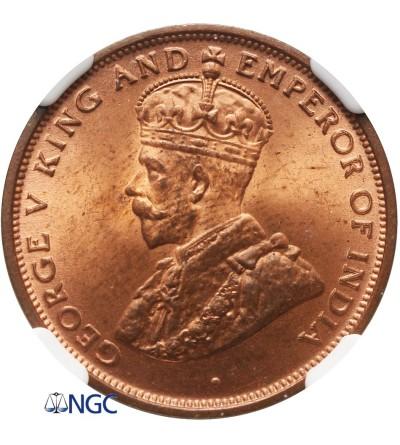 Ceylon Cent 1926 - NGC MS 63 RD