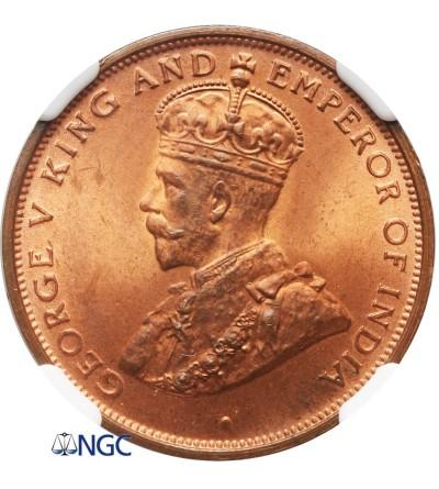 Cejlon 1 cent 1926 - NGC MS 65 RB