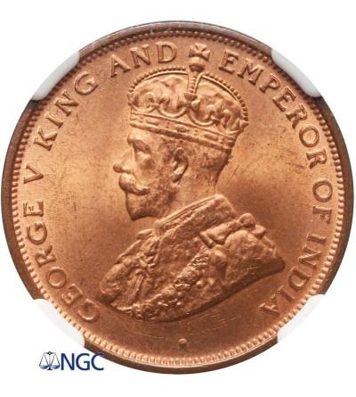 Ceylon Cent 1926 - NGC MS 65+ RD