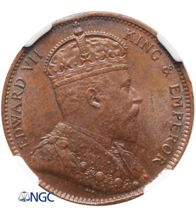 Ceylon Cent 1910 - NGC UNC Details