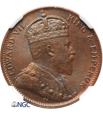 Cejlon 1 cent 1910 - NGC MS 62 BN