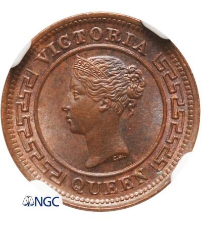 Ceylon 1/4 Cent 1890 - NGC MS 64 BN