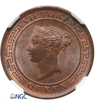 Cejlon 1 cent 1892 - NGC MS 63 BN