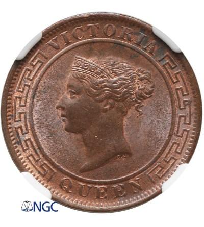 Ceylon Cent 1892 - NGC MS 63 BN