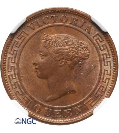 Cejlon 1 cent 1891 - NGC MS 62 BN