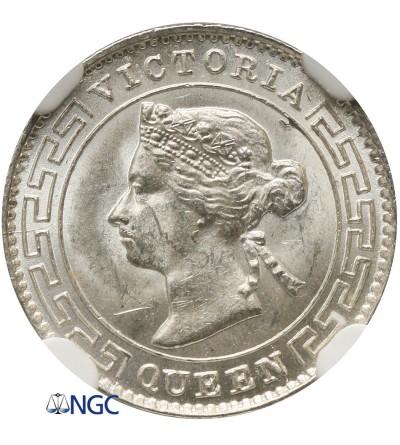 Cejlon 10 centów 1892 - NGC MS 63
