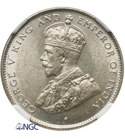 Cejlon 50 centów 1929 - NGC MS 63