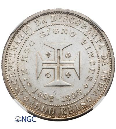 Portugalia 1000 Reis 1898 - NGC MS 64