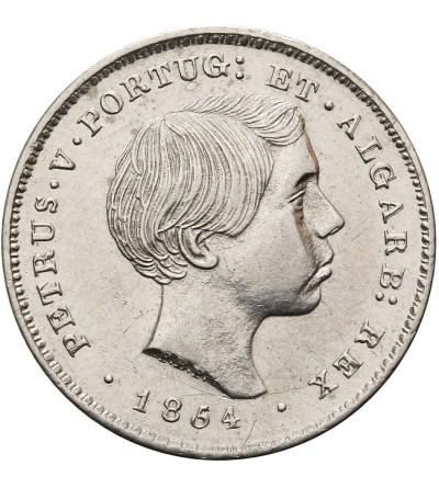 Portugalia 100 Reis 1854