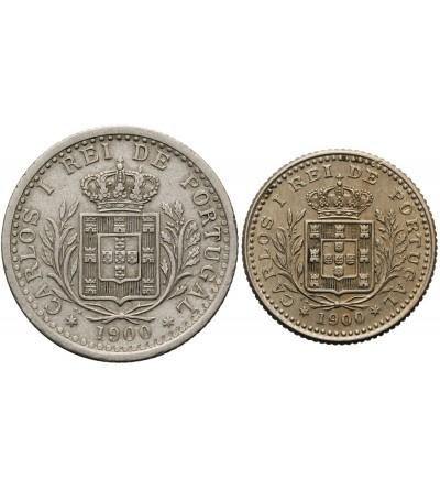 Portugal 50, 100 Reis 1900