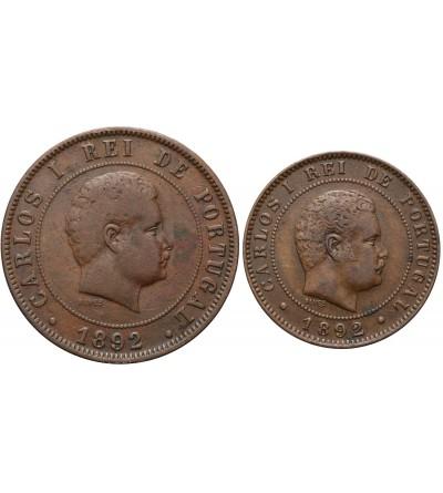 Portugal 10, 20 Reis 1892 A, 1892
