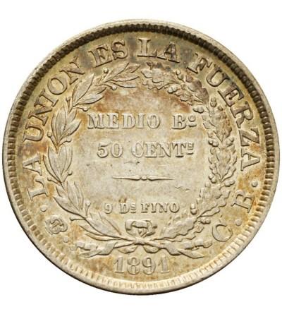 Boliwia 50 centavos 1891