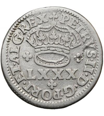 Portugal 80 Reis ND (1683-1706)