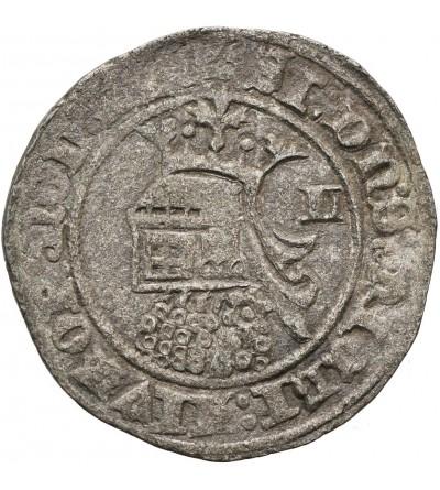 Portugal Barbuda (28 Dinheros) ND, Fernando I 1367-1383