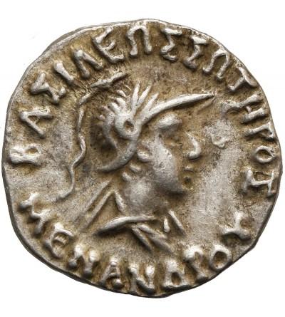 Królestwo Baktrii. AR Drachma, Menander ok. 160-145 r p.n.e.