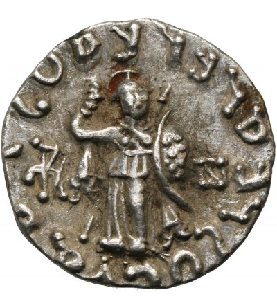 Indo-Scytyjscy królowie Baktrii. AR Drachma, Azes II, ok 35 p.n.e. - 5 r n.e.