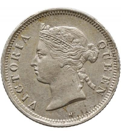 Straits Settlements 5 Cents 1879 H