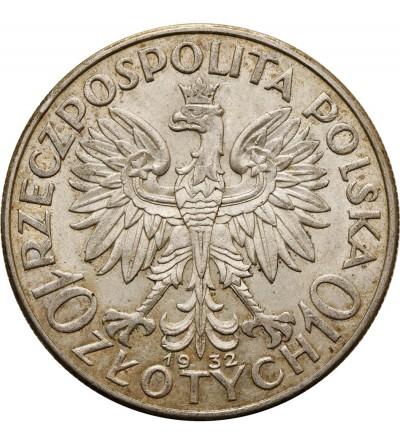 10 złotych 1932, bez znaku mennicy, Londyn