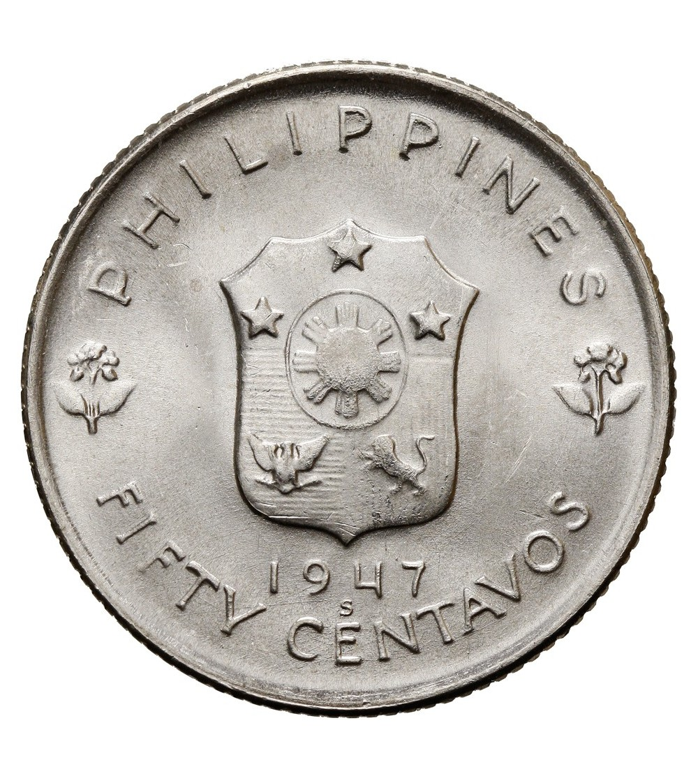 Filipiny 50 centavos 1947