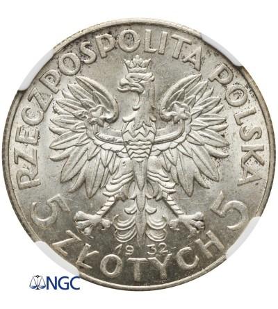 5 złotych 1932, Londyn - NGC MS 61