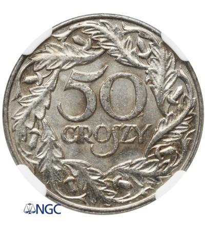 50 groszy 1938 - NGC MS 61