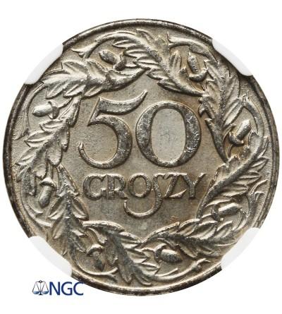 50 groszy 1938 - NGC AU 58