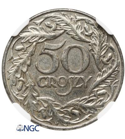50 groszy 1938 - NGC AU 55