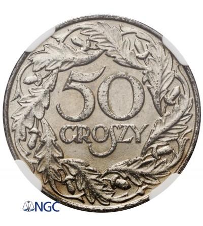50 groszy 1938 - NGC MS 62