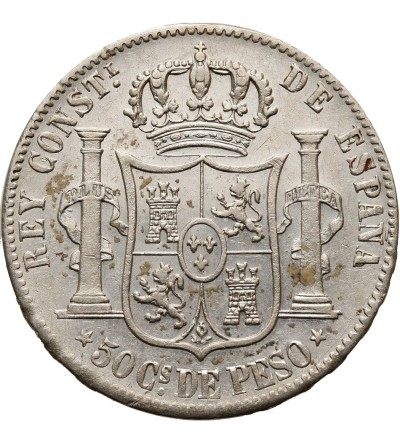 Filipiny 50 centimos 1885