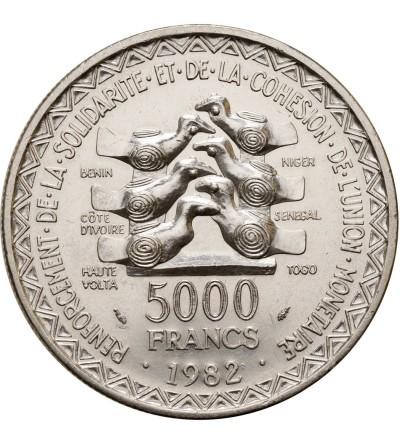 Francuska Afryka Zachodnia 5000 franków 1982