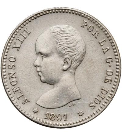 Spain Peseta 1891 (91) PG-M