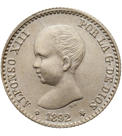 Spain 50 Centimos 1892 (92) PG-M