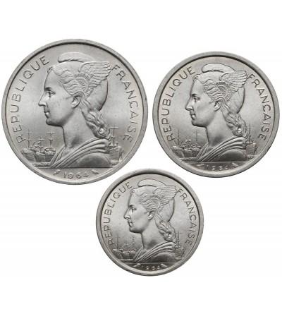 Komory 1, 2, 5 franków 1964