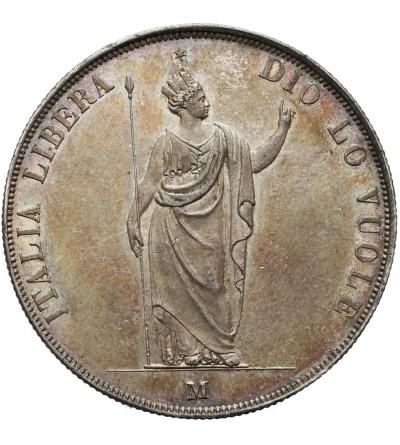 Lombardia rewolucja 5 lire 1848, Mediolan