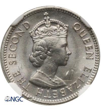 Malaya & British Borneo 5 Cents 1961 KN - NGC MS 67