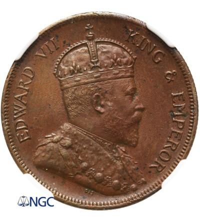 Malaje - Straits Settlements 1 cent 1908 - NGC MS 62 BN