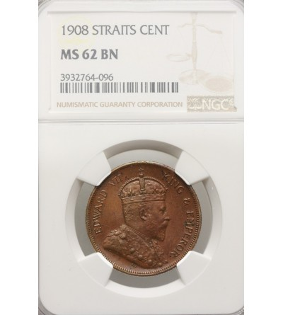 Malaje - Straits Settlements 1 cent 1908 - NGC MS 62 BN
