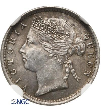 Malaje - Straits Settlements 10 centów 1889 - NGC UNC Details