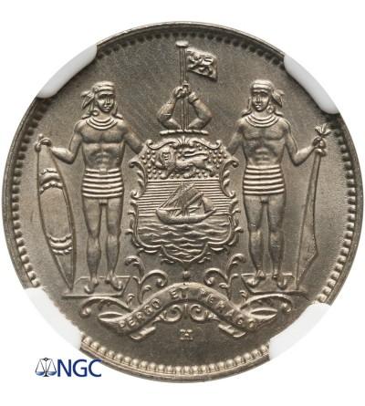 Brytyjskie Północne Borneo 1 cent 1938 H - NGC MS 66+