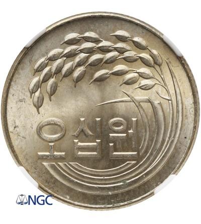 South Korea 50 Won 1972, NGC MS 63