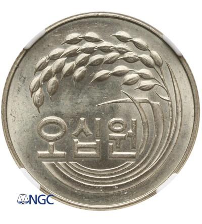 South Korea 50 Won 1973 - NGC MS 63