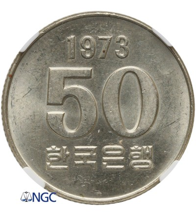 Korea Południowa 50 Won 1973 - NGC MS 63
