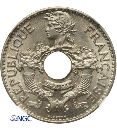 French Indo-China 5 Cents 1938 - NGC MS 67