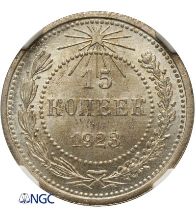 15 kopiejek 1923 - NGC MS 65