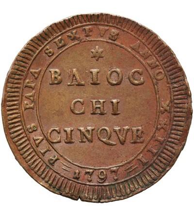 Watykan 5 Baiocchi 1797, Pius VI