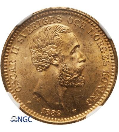 Szwecja 20 koron 1889 EB - NGC MS 65