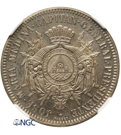Honduras Próba 1 Real 1870 - NGC PF 63
