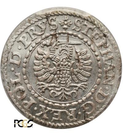 Szeląg 1579, mennica Gdańsk - PCGS MS 64